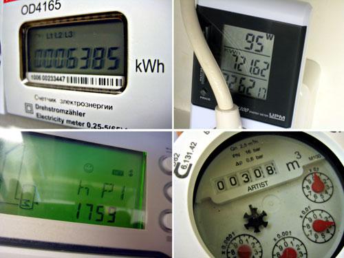 undermätare fastighetsel, FTX-mätare, drifttid cirkulationspump till solkretsen, vattenmätare